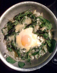 Crowley Spinach and Eggs